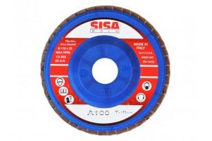 Disco Abrasivo Lamellare per Smerigliatrice Angolare mm. 115 Grana 100 SISA   Dpsbrico.it - 27564